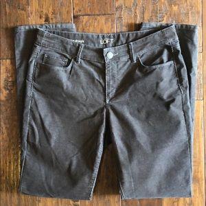 Loft brown corduroy pants